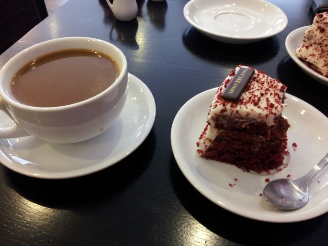 Coffee & Cake. A welcome luxury on a cold Saturday afternoon.