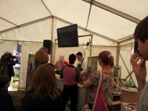 Live demos in the co-op tent.