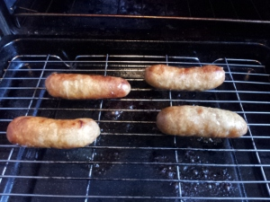 Sausages from Wigborough Meats. They didn't make it to midnight.