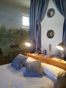 Our little boathouse room.