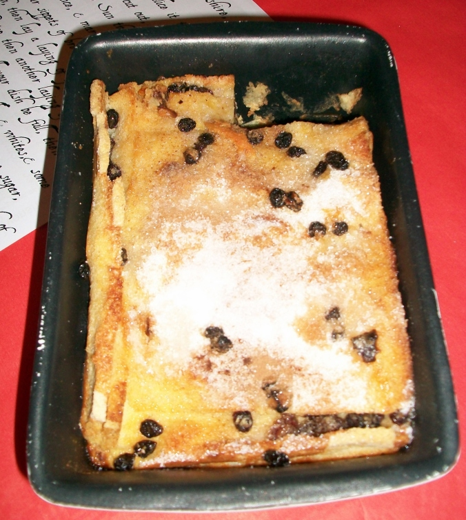 This dish din't have a name, rather a literary introduction as The Lord Devonshire, His Pudding. Conjoured by dessert addict Matt this was a big square bread and butter pudding with dates and stuff. Possibly some more cinnamon. Job jobbed.
