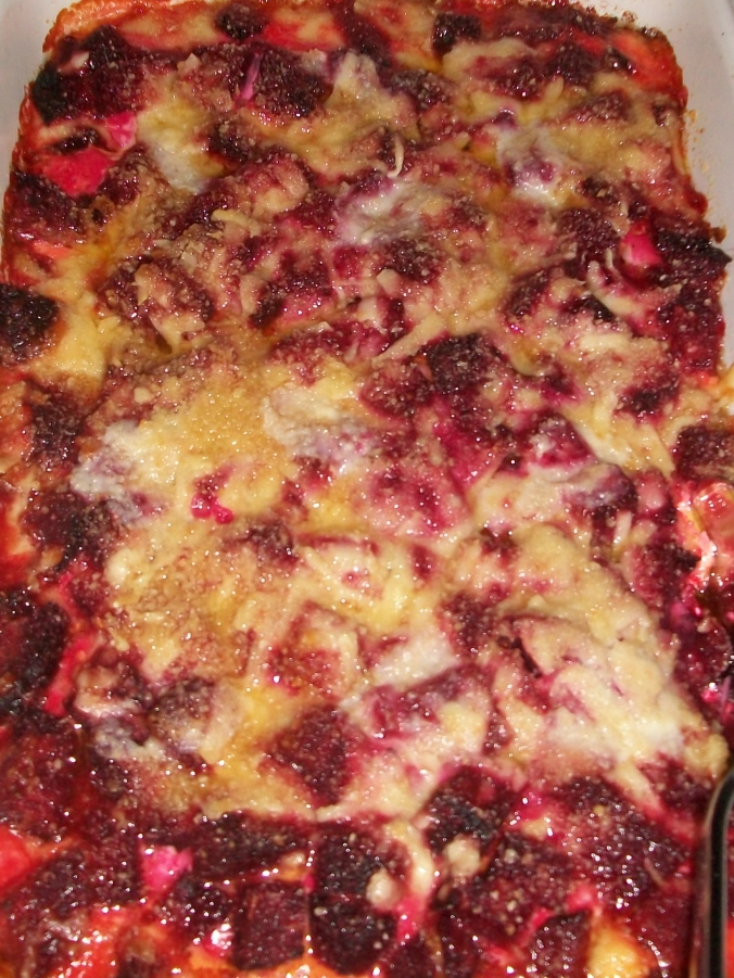 Beetroor gratin: it's bright pink and baked with extra mature cheddar and parmesan. I love you Sheena. This was my favourite of the night.