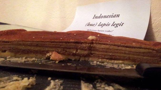 Welcome to the Layer Cake Son.......this is a lovely multi layered Indonesian cake by Matt. Sweet and spicy and oh so pretty. Very moreish, you can make this one again.