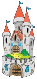 cutcaster-photo-100830400-Cartoon-castle-with-fortification