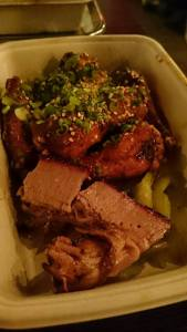Wings n brisket with pickles. Try the broccoli salad too.